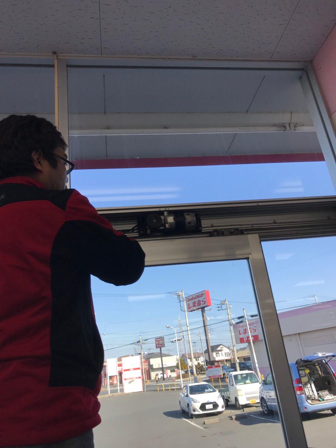 小山市で店舗の自動ドアの鍵が閉まらない