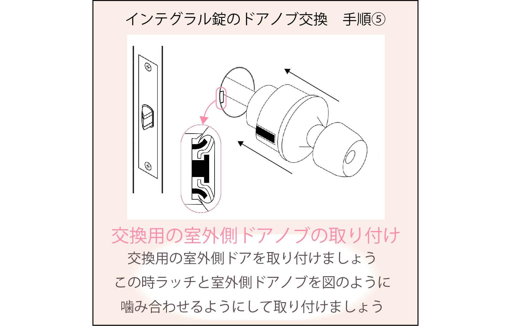 円筒錠の交換手順⑤