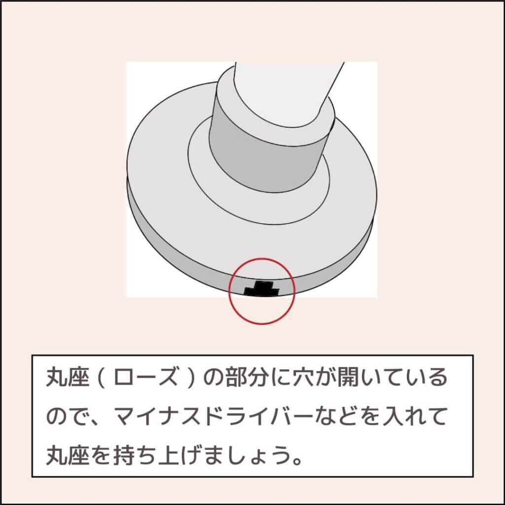 円筒錠の外し方2