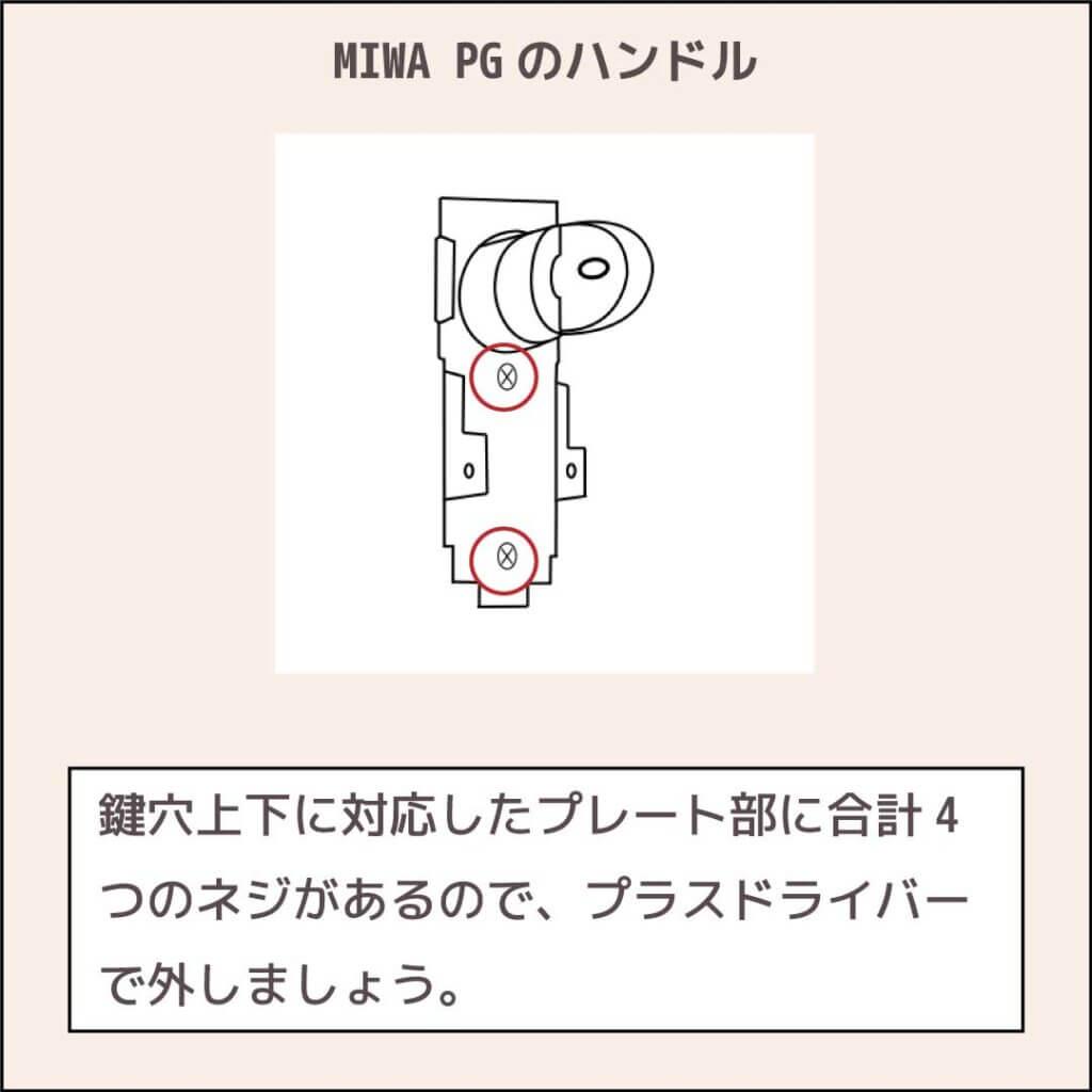 MIWAプッシュプル錠PG_プレート